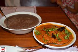 Ragi Sangati with Guthi Vankaya
