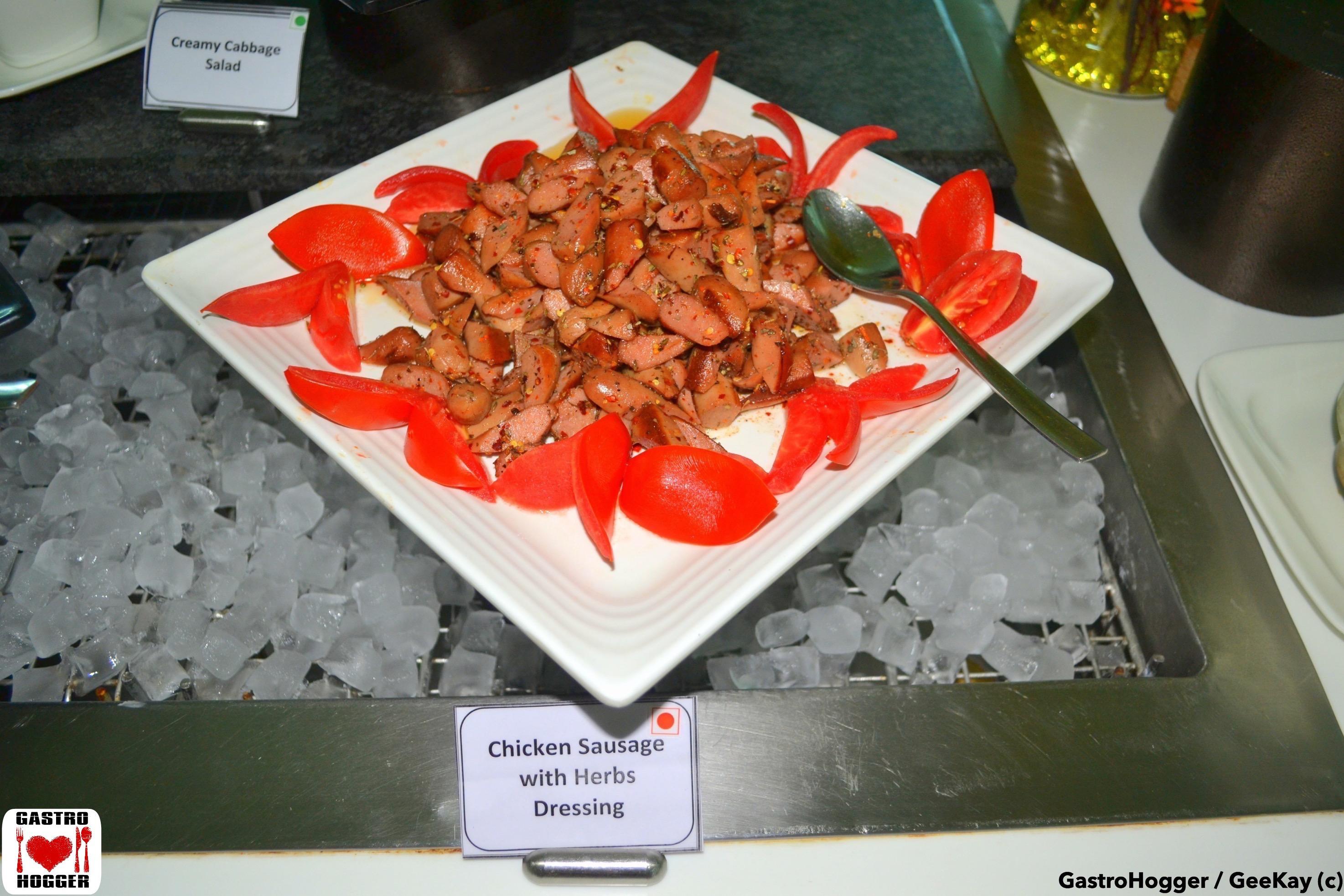 Chicken Sausage with Herbs Salad