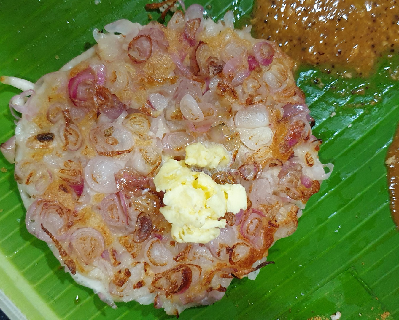 Butter Onion Uthappam