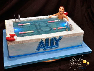 Our latest cake. A swimming pool cake