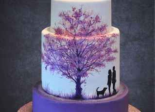 A Painted Wedding Cake