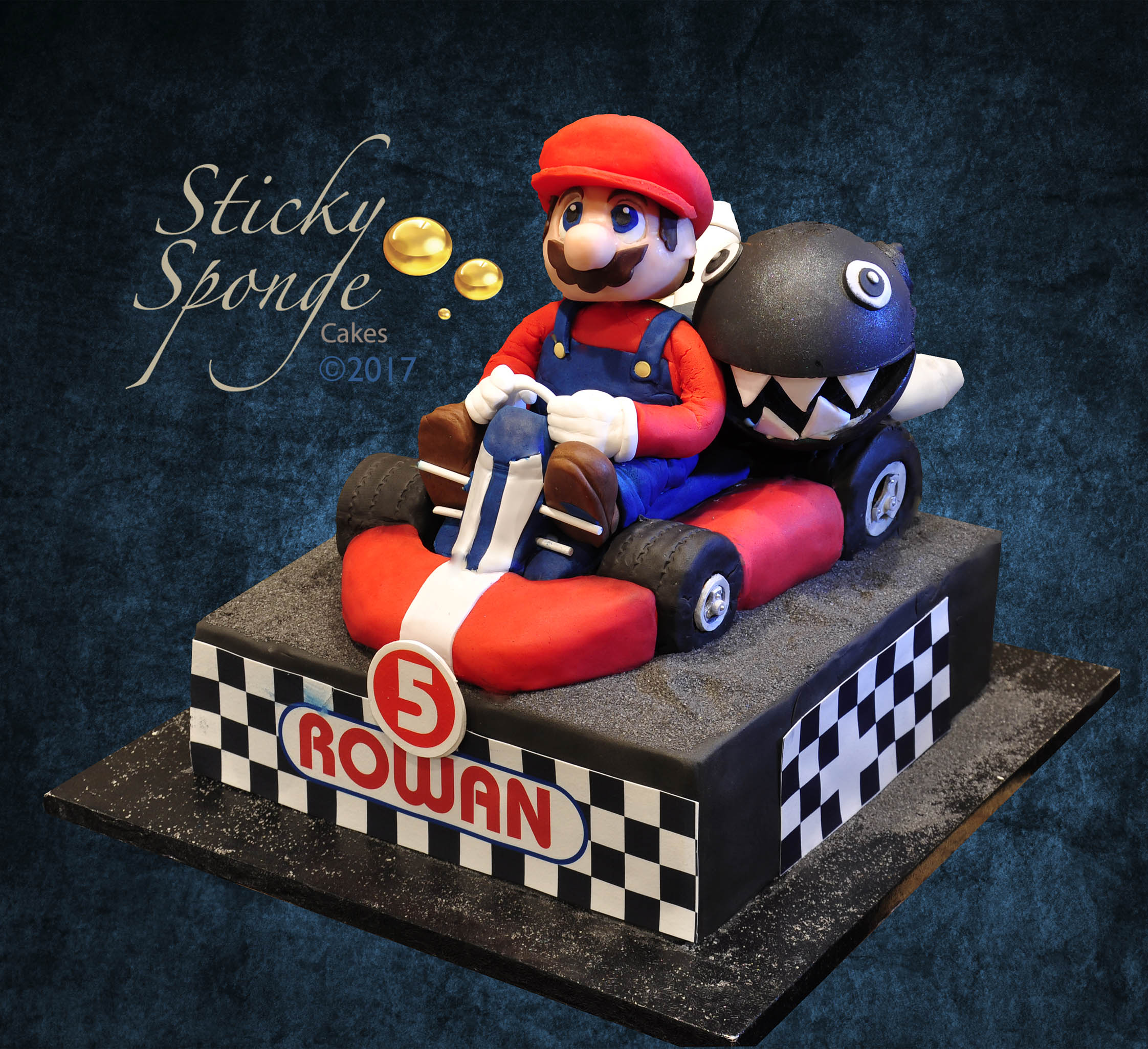 Remarkable Mario Kart Cake Personalised Birthday Cards Sponlily Jamesorg