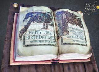 Lindisfarne Gospels Cake