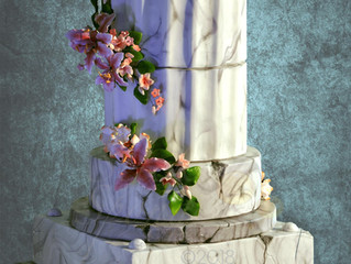 Alternative marbled wedding cake.