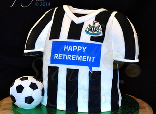Newcastle United Shirt Cake.
