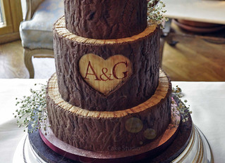 Wooden't you like this wedding cake.