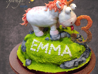 A Unicorn cake for a special little girl