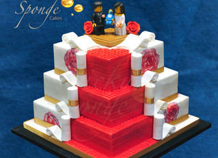 Hand Painted Lego Wedding Cake