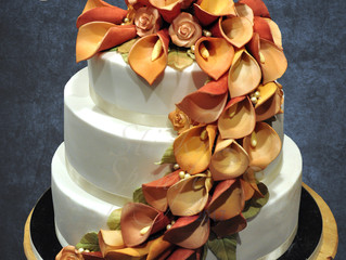 Lily cascade wedding cake