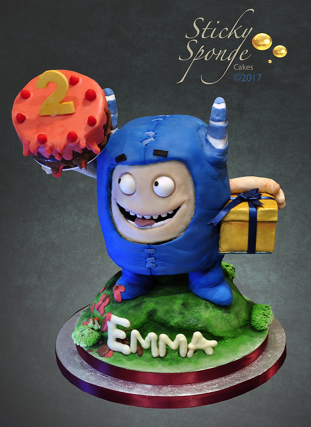 With Raspberry Buttercream And Is Holding A Edible Present Smaller Cake Which We Also Put Some Candles Into Later On Happy Birthday Emma X