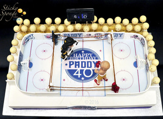 A ice hockey boxing cake