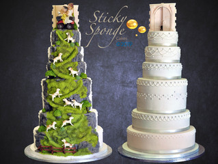 This cake was no walk in the country