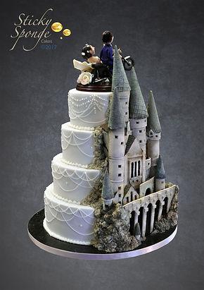 Castle Wedding Cake.Hidden Hogwarts Wedding Cake