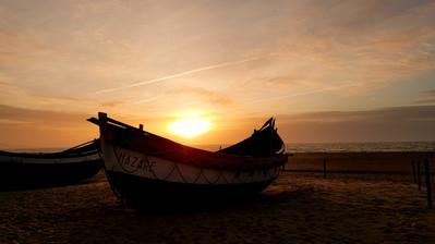 Sonnenuntergang in Nazaré Portugal