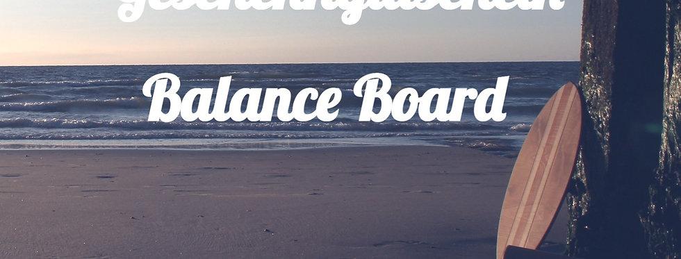 Geschenkgutschein Balance Board