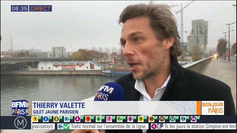 Thierry Paul Valette sur BFM Paris BFMTV le pouvoir achat , le français ne vie plus etc la goûte de l'Essence qui a fait débordé le vase