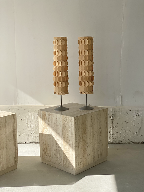 Pair of dform Pucci table lamps by James Dieter