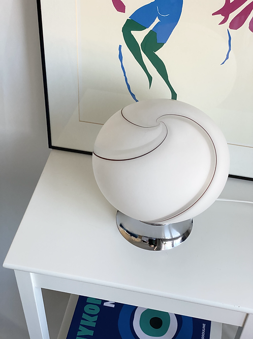 Vetri Murano frosted glass swirl lamp