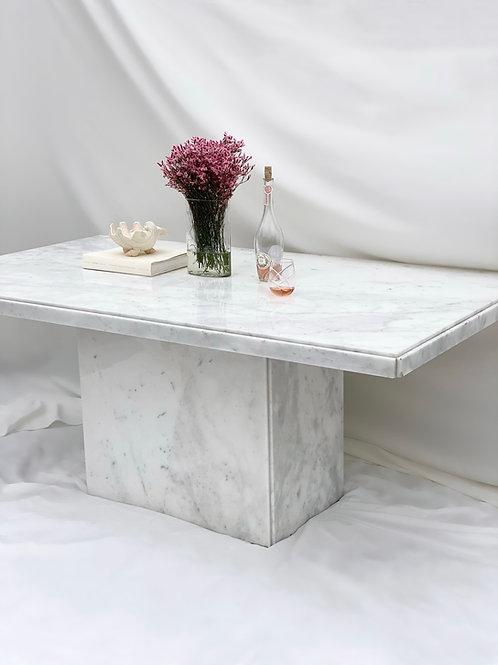 Carrara marble dining table