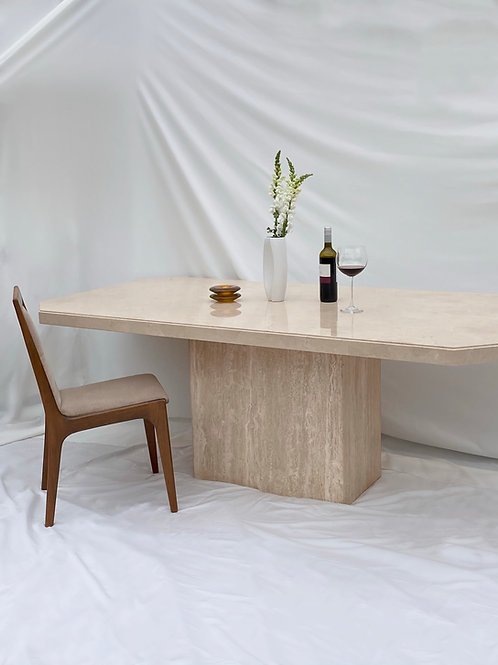 Artshoppe travertine dining table