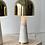 Thumbnail: Brass and marble mushroom lamp