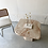 Thumbnail: Pink marble side table with asymmetric corners