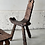 Thumbnail: Antique birthing chair and stool