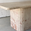 Thumbnail: Pink marble dining table with asymmetric corners