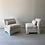 Thumbnail: Classic slipper chairs in ivory bouclé