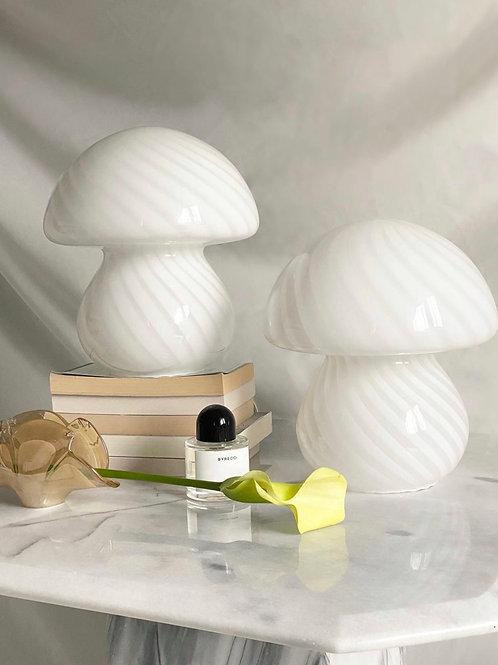 Murano mushroom lamps