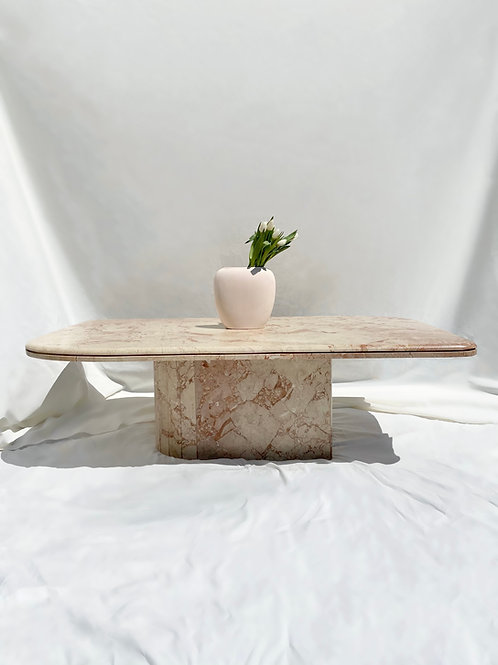 Pink marble coffee table