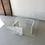 Thumbnail: Carrara marble and glass coffee table