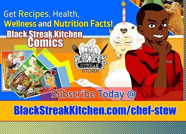 Black Streak Kitchen Comics presents Chef Stew recipe