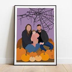 Halloween Pumpkins and Spider Webs Famil