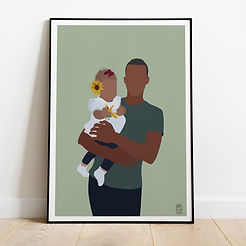 Daddy and Daughter Spring Sunflower  Por