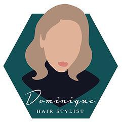 Hairstylist Brand Logo Faceless Portrait