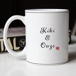 Woman and her dog custom portrait mug .p