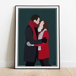 Digital Couple Portrait - Cosy Winter