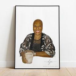 Family Portrait Gift Woman commission po