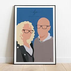 Couple Digital Portrait Poster Print Gif