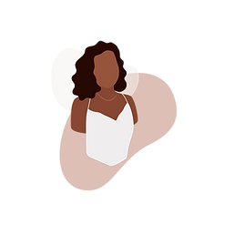 vector art digital portrait black girl