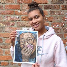 Danielle Jones art with drawing