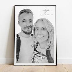 Anniversary Couples Portrait in Graphite
