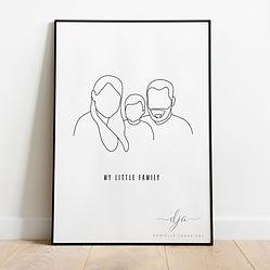 My Little Family Line Art Digital Portra