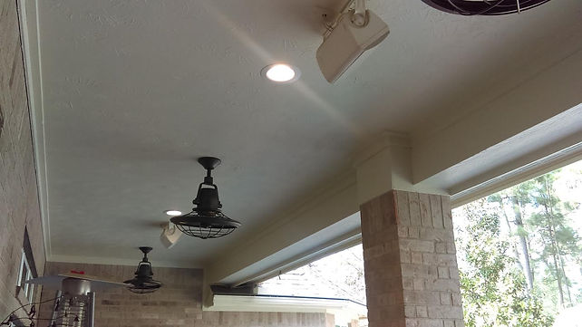 2nd Mile Services Installs Outdoor Lighting & Fans - Houston, Cypress, Katy Area