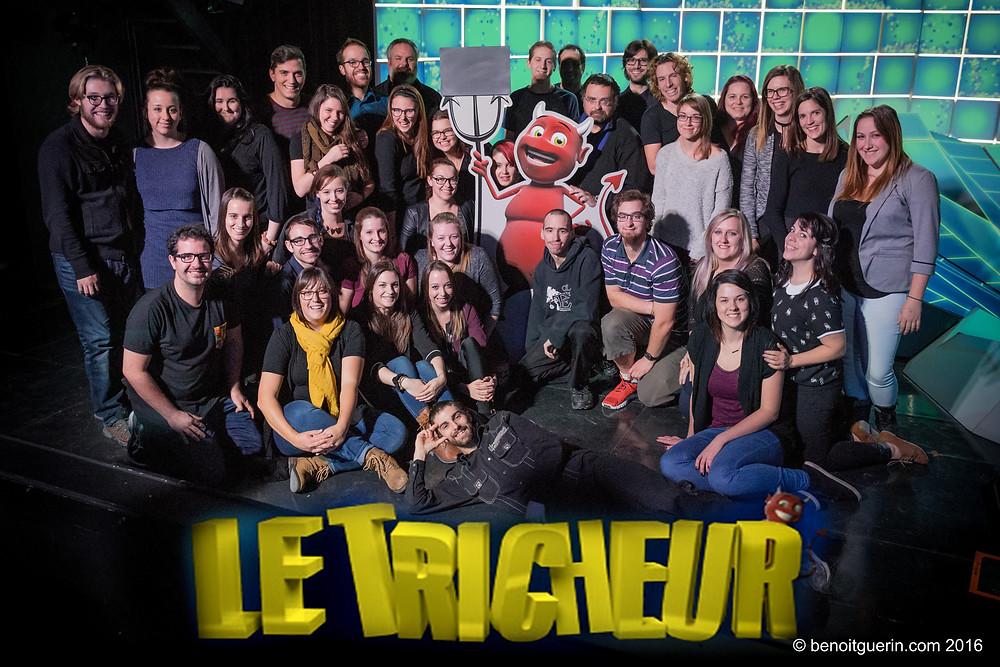 Une cinquantaine de personnes était réunis pour assister à l'émission Le Tricheur à TVA