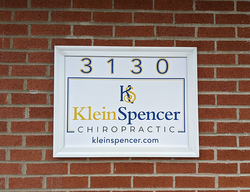 Klein Spencer Chiropractic Sign on the building