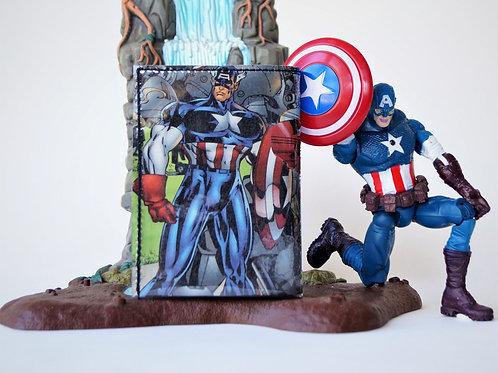 CAPTAIN AMERICA Portemonnaie MarvelComic upcycling Unikat (vorne)