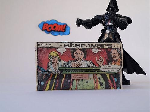 STAR WARS & PRINZESSIN LEIA Tabaktasche Comic upcycling Unikat (vorne)
