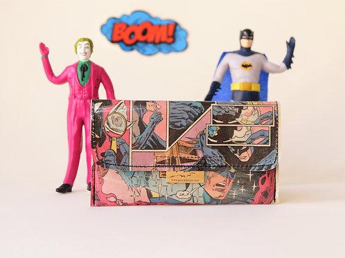 BATMAN Tabaktasche D.C. vintage Comic upcycling Unikat handgefertigt i
